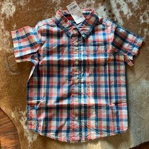 New Boys 4T short sleeve button up